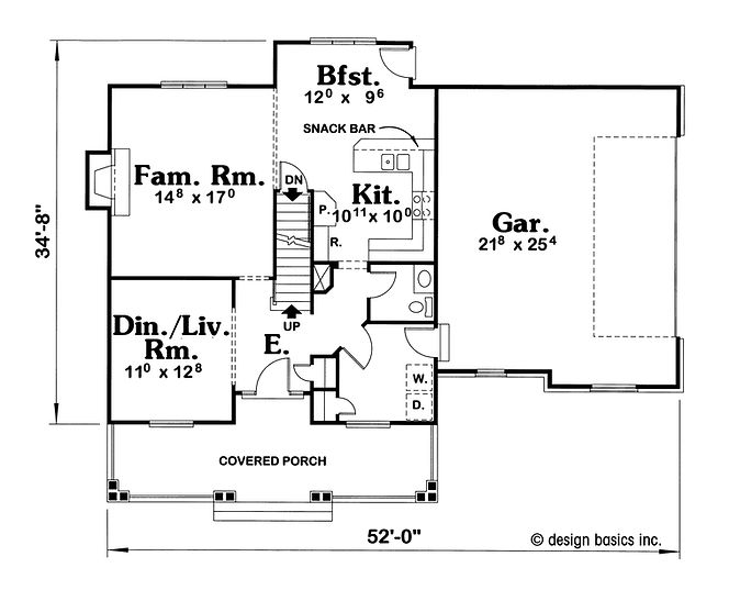 two story home plan