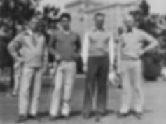 Clarence Blakeslee with Ray and John Rei