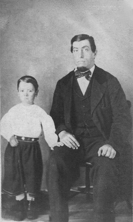 Jacob Reigeluth, with son John J. Reigel