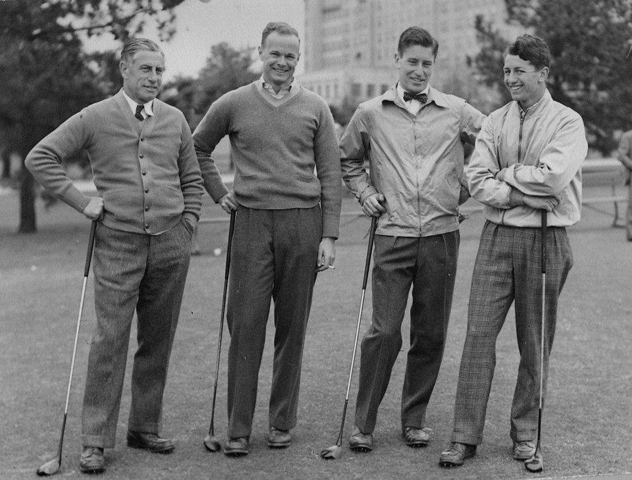 Ray with Sons John & Robert Golfing.jpg