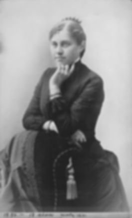 Ida Jane Ellison, late 1880 - 18 years o