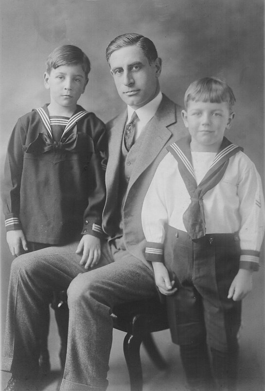 Ray John Reigeluth with sons John and Ro