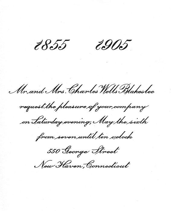 Charles W. Blakeslee 50th Anniversary In