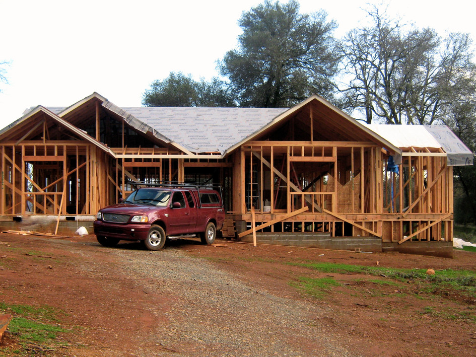 Custom home framing