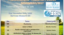 Programação de Palestras Públicas - Novembro/2017