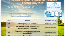 Programação de Palestras Públicas em Fevereiro/2017