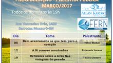 Programação de Palestras Públicas Março/2017