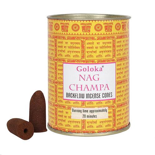Nag Champa Backflow Incense Cones by Goloka