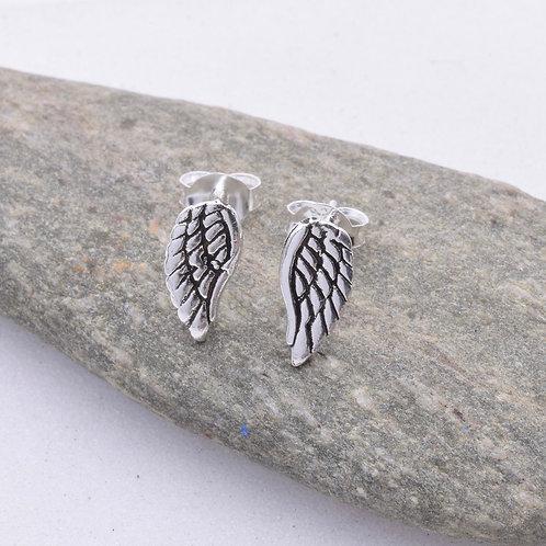 Angel Wings Stud Earrings - 925 Sterling Silver