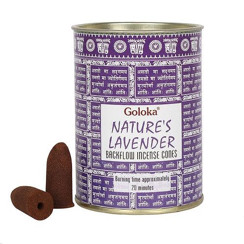 Lavender Backflow Incense Cones by Goloka