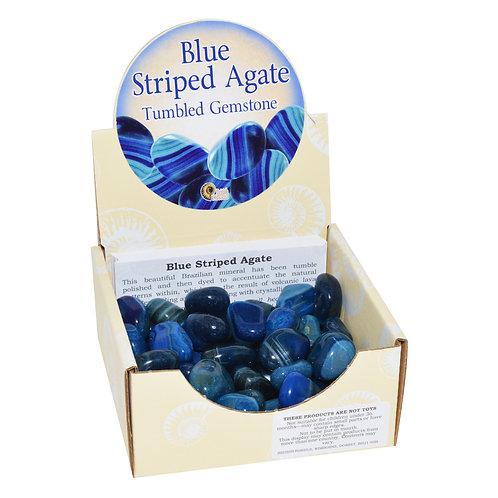 Blue Striped Agate Tumblestone