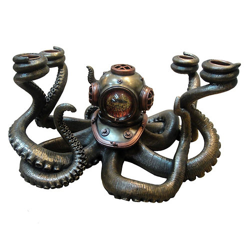 Ocean's Secrets Steampunk Candle Holder by Nemesis Now