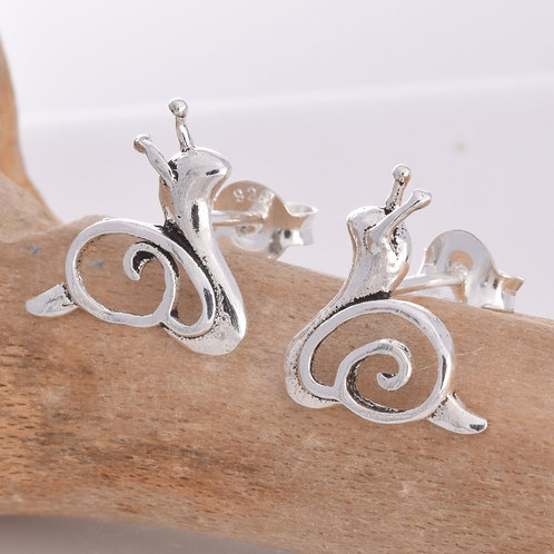 Brian The Snail Stud Earrings - 925 Sterling Silver