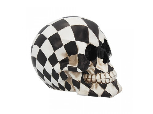 Harlequin Skull by Nemesis Now