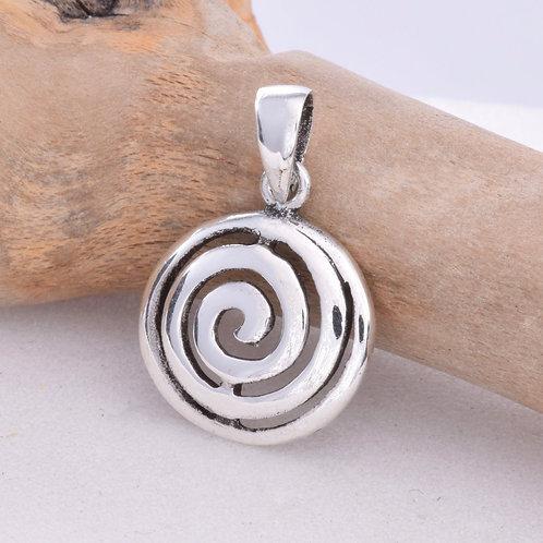 Spiral Pendant - 925 Sterling Silver