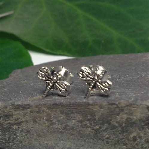 Dragonfly Stud Earrings - 925 Sterling Silver