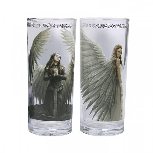 Set of 2 Angels Glasses by Anne Stokes
