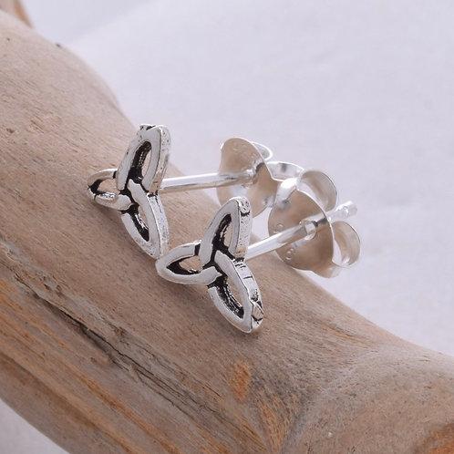 Triquetra Stud Earrings - 925 Sterling Silver