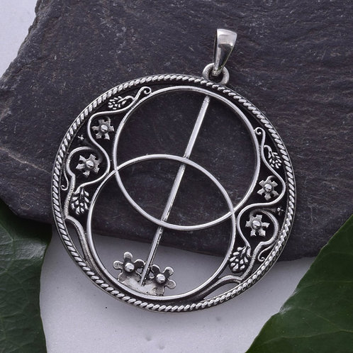 Chalice Well Pendant - 925 Sterling Silver