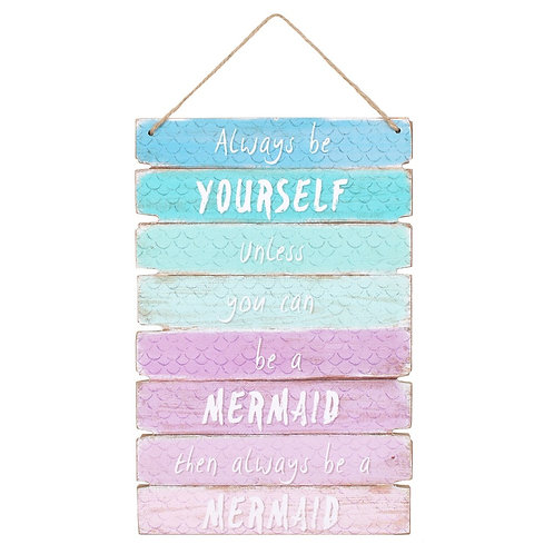 Swim with Mermaids Wall Sign