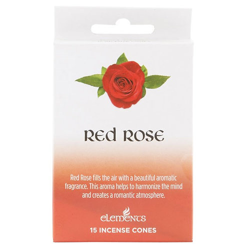 Red Rose Incense Cones by Elements