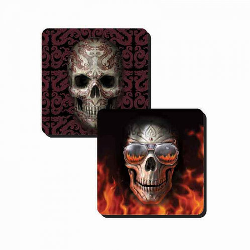 Skulls Coaster Set by Anne Stokes