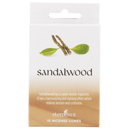 Sandalwood Incense Cones by Elements