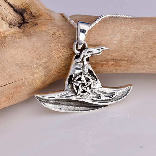 Witch's Hat Pendant - 925 Sterling Silver