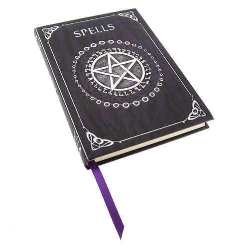 Embossed Purple Spell Book by Luna Lakota