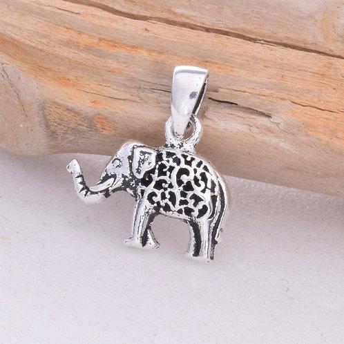 Elephant Pendant - 925 Sterling Silver