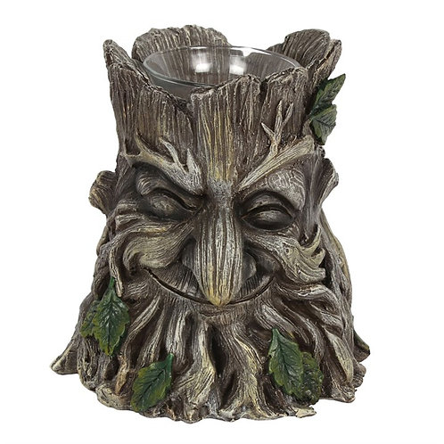 Green Man Candle Holder