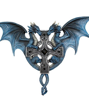 Dragon Duo Wall Plaque by Anne Stokes
