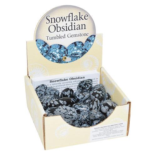 Snowflake Obsidian Tumblestone