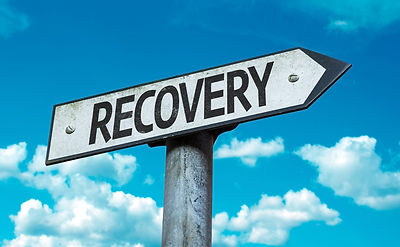 bigstock-Recovery-sign-with-sky-backgro-