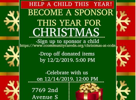 Sponsor a Child for Christmas in CCDN Santa's Christmas Program