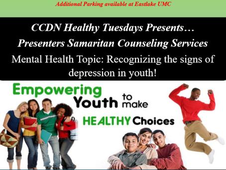 Healthy Tuesdays!!! Mental Wellness for Teens!