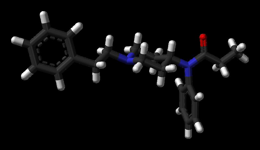 Molécule de fentanyl