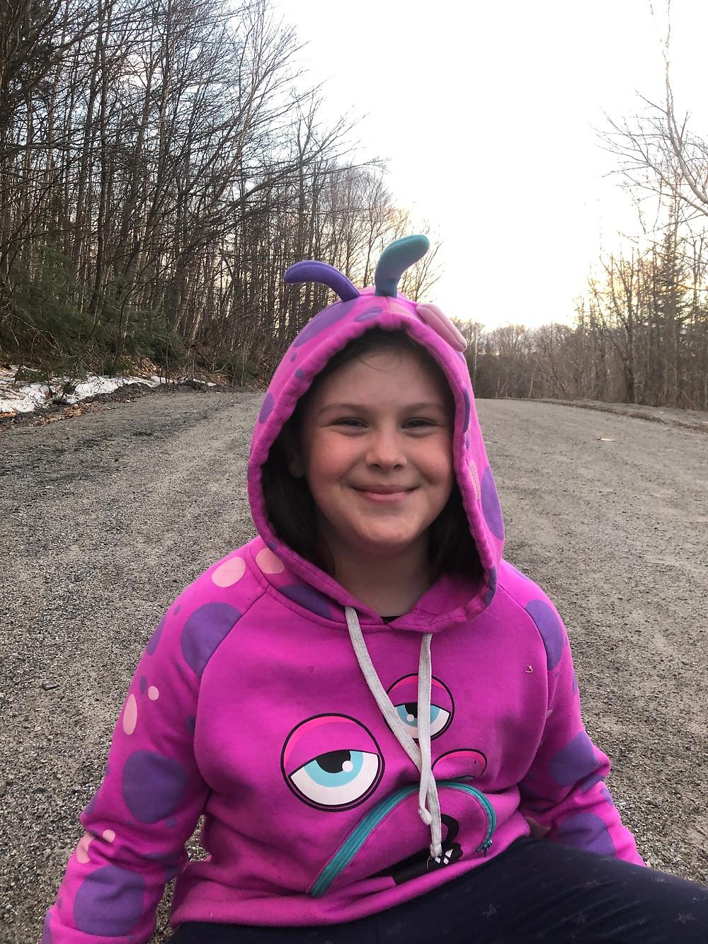Ève Baribeault, 9 ans