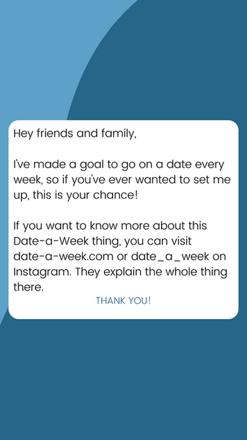 Blue Instagram Story (date-a-week.com)