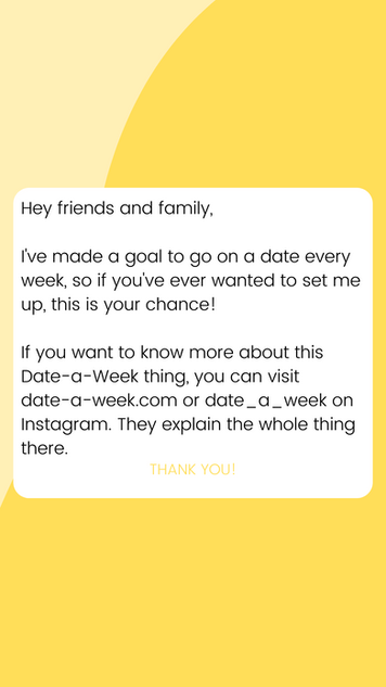 Yellow Instagram Story (date-a-week.com)