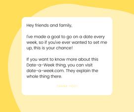 Yellow Facebook Post (date-a-week.com)