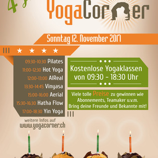 Yogacorner Jubiläums Poster