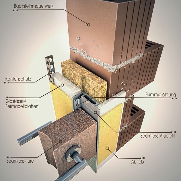 Mauerwerk 3D Detail Seamless Türen
