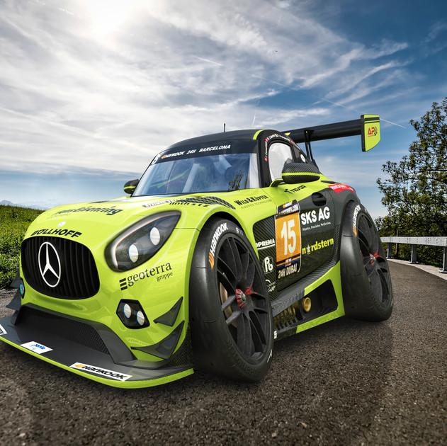 Mercedes AMG GT3 Car-Toon