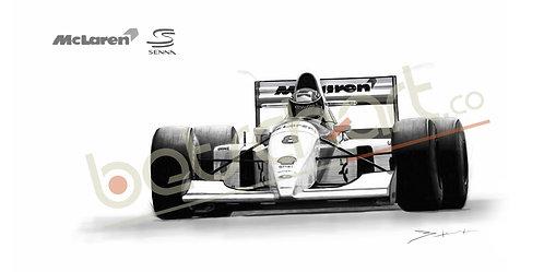 McLaren MP4-8 1993 Ayrton Senna