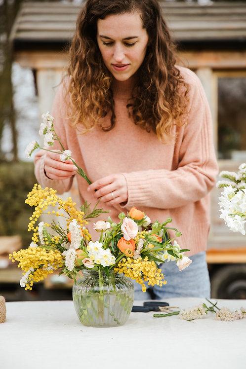 Low Vase Arranging Workshop At The Field