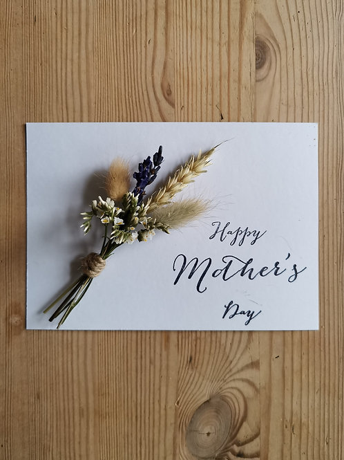 Mother's Day Dried Flower Postcard