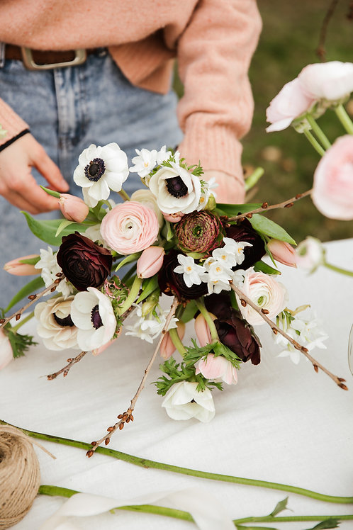 Hand tied bouquet Workshop at Sift Cafe & Bakery