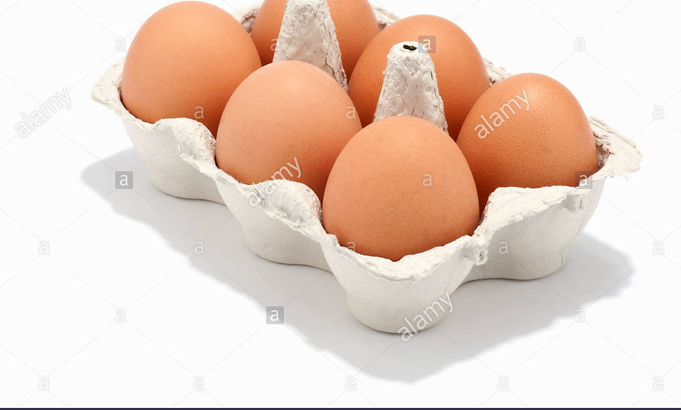 Eggs X6, FREE RANGE local Marley Farm