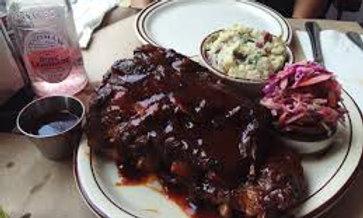 BBQ Pork Ribs, Potato Salad & Pink Coleslaw (FRI-SUN)
